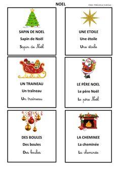 Allez une petite dernière série de carte de nomenclature pour cette période 2 : la série sur le thème de Noël!   On aura donc pour cett...