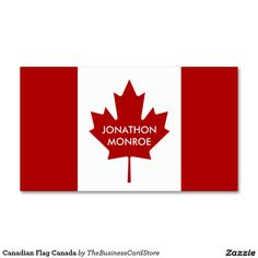 Canadian flag wall style canada double sided standard business cards canadian flag wall style canada double sided standard business cards pack of 100 world flags business cards by the business card store pinterest colourmoves