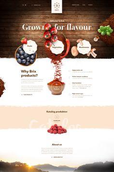 Traditional web page for Brix fruits, vegetables, mushrooms by Andrej Krajčir Website Design Inspiration, Best Website Design, Website Design Layout, Web Layout, Layout Design, Food Web Design, Site Web Design, Page Design, Web Design Trends