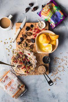 Seedy Farro Breakfast Bowl Recipe With Warmed Figs & Pears - Healthy Breakfast - Breakfast Crockpot Recipes, Vegetarian Breakfast Recipes, Bowl Recipe, Food For Eyes, Breakfast Bowls, Breakfast Ideas, Christmas Breakfast, Figs, Pears