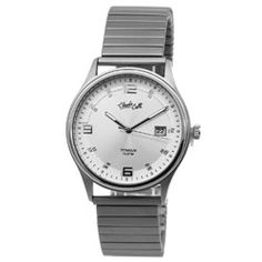 Titanium heren horloge met rekband. Stijlvol en tijdloos, dit maakt het een musthave accessoire.