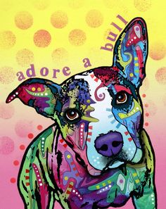 AdoreABull Painting by Dean Russo--Love this artwork and amazing works of Pit Bulls!