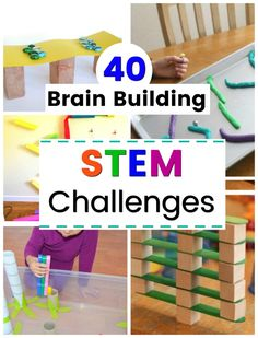 Incredible brain building STEM challenges for kids! Ideas for big kids, preschoolers, and even toddlers. So many awesome and easy ideas. Science should always be this easy and fun! Steam Activities, Kids Learning Activities, Brain Activities, Preschool Activities, Elderly Activities, Dementia Activities, Brain Games, Physical Activities, Number Activities