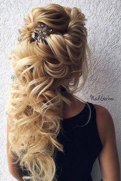 40 Stuning Long Curly Wedding Hairstyles from Nadi Gerber | Deer Pearl Flowers/ http://www.deerpearlflowers.com/long-wedding-hairstyles-from-nadi-gerber/