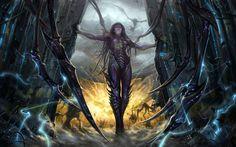 The Art of Xuezhi Wang, Magiclefty. Queen of Blades