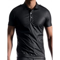 Manstore Polo Shirt M104 Black (T5352) Famous Brands, Clubwear, Party Wear, Polo Shirt, Shirts, Mens Fashion, Tank Tops, Stylish, Casual
