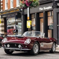 Sunny Ride Out – Ferrari 250 GT Cabriolet, - Vintage and Retro Cars 2015 Mustang, Ford Mustang Shelby Gt500, Mustang Cobra, Carros Retro, Carros Vintage, Best Classic Cars, Classic Sports Cars, Classy Cars, Sexy Cars
