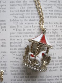 Merry Go Round Carousel - Vintage Necklace