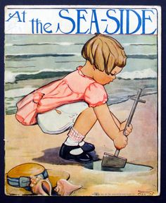 ''AT THE SEA-SIDE'', The Saalfield Publishing Co., 1915