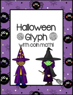 Halloween Glyph with coin math FREEBIE!
