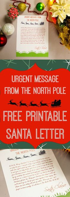 Free Santa Letter Templates Downloads Christmas Letter from Santa - copy www.letter writing format