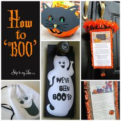 How to Boo or Spook your neighbors! Free printables and instructions. www.skiptomylou.org #freeprintables #halloween