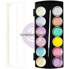 Scrapbookdepot - Prima Marketing Metallic Pastel Accents Semi-Watercolor paintset - pm631895 - Prima Marketing - Prima Marketing Finnabair