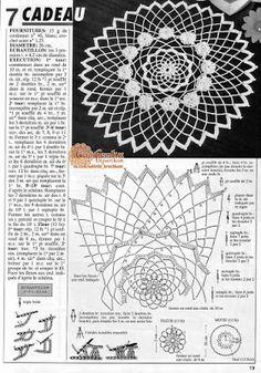 Patterns and motifs: Crocheted motif no. 1643 Patterns and motifs: Crocheted motif no. Free Crochet Doily Patterns, Crochet Doily Diagram, Crochet Motifs, Thread Crochet, Diy Crochet, Crochet Crafts, Crochet Doilies, Crochet Stitches, Crochet Projects