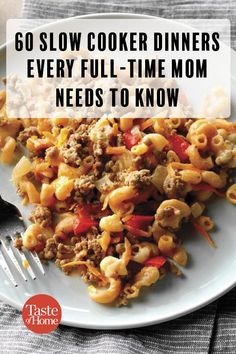 These slow cooker dinner recipes prove that the early bird isn't the only one to have a great dinner. Start these by noon for an easy dinner. Easy To Cook Meals, Slow Cooked Meals, Crock Pot Slow Cooker, Crock Pot Cooking, Easy Cooking, Hamburger Crockpot Meals, Slow Cooker Meatloaf, Dinner Crockpot, Cooking Ham
