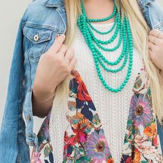 Bold beads on @cottonandcabernet // Shop the necklace: http://ift.tt/1VXHOp3 #xo