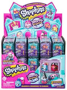 Shopkins Season 8 World Vacation Blind Bags Full box of 30