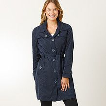 Ladies' Lightweight Longline Casual Trench - Navy