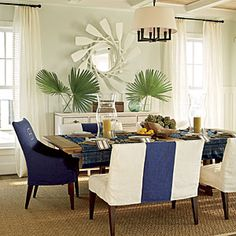 2011 Ultimate Beach House Room Tour | The Dining Room | CoastalLiving.com