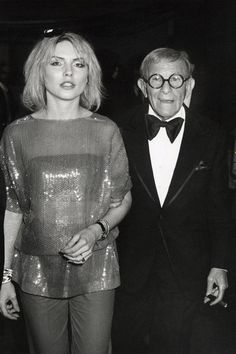 Debbie Harry's 'fit is not that outrageous but having George Burns on her arm takes it up a notch.