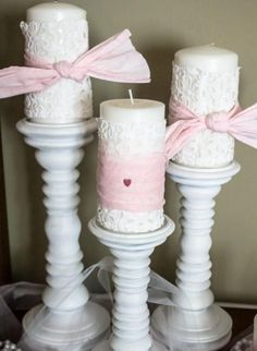 GDIY- Little Girl's Dress Is Now Shabby Candle Wrap decor ! This is perfect for my babies princess room :) Valentines Day Decorations, Valentine Day Crafts, Valentine Party, Little Girl Rooms, Little Girls, Her Wallpaper, Do It Yourself Inspiration, Holiday Fun, Holiday Decor