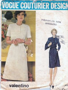 1970s  Vogue Couturier Design 1119 Sewing by allthepreciousthings,