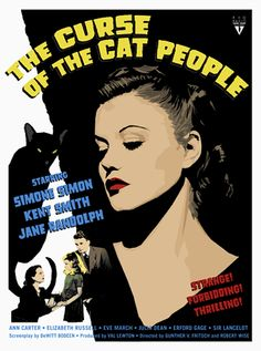 """Val Lewton's Curse of The Cat People (1944) """"God should use a Rose Amber Spot!"""" Seeing the darkness thru the 'Fearing Child' and 'The Monstrous Feminine' Part II"""