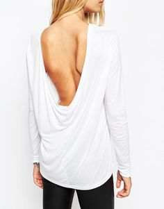 LOVE ASOS | ASOS The Scoop Back Top With Long Sleeves at ASOS- size med