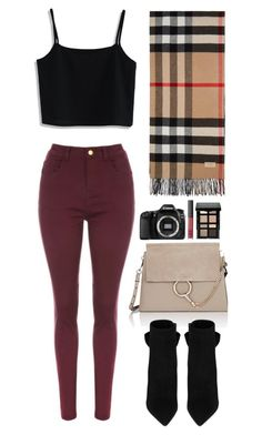 """""""Daily tourist"""" by thatgirlwholovesit on Polyvore featuring Burberry, Chicwish, Chloé, Yves Saint Laurent, Eos and Bobbi Brown Cosmetics"""