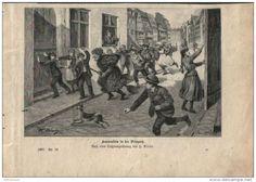 """Hexenreiten in der Priegnitz  - Druck, entnommen   aus """"die Gartenlaube"""", 1897"""