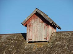 rustic weathered barn cupola