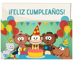 ¡Feliz cumpleaños! #Toobys #Postales #Tarjetas