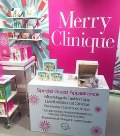By http://www.instagram.com/miss_magpie_spy / CAN YOU IMAGINE HOW HAPPY I AM? I'm a walking advert for Clinique Happy perfume surely. My own special desk thanks @cliniqueuk #cliniquemagpie