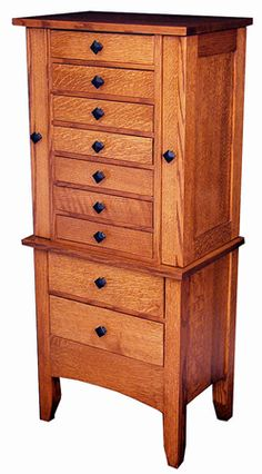 Large Mission Jewelry Armoire