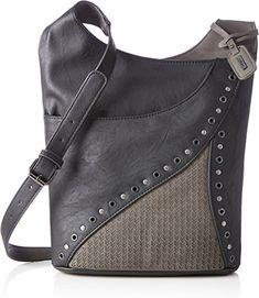 Rieker Damen H1403 Umhängetasche, Schwarz (Schwarz/Dust), 100x300x300 cm: Amazon.de: Schuhe & Handtaschen
