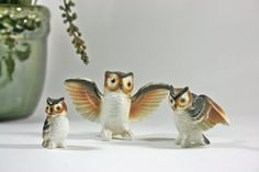 Mini Owl Family by ElisVintageFinds on Etsy, $20.00