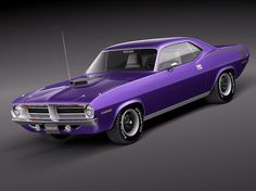 Purple has never looked good on anything but Mopar muscle cars. Such as this 1970 Plymouth Hemi Cuda!