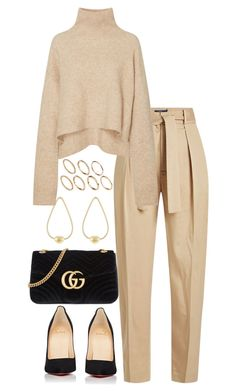 """Untitled #5314"" by theeuropeancloset on Polyvore featuring Polo Ralph Lauren, Christian Louboutin, Gucci, Jennifer Fisher and Pieces"