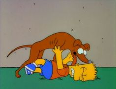 Santa's Little Helper from 'The Simpsons' - The Top 10 Dogs from TV Sitcoms - Zimbio The Simpsons Show, Simpsons Cartoon, Goat Cartoon, Cartoon Art, Bart Simpson, Old Yeller, Santa's Little Helper, Tv Guide, Disney Characters