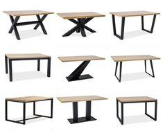 Rustic Dining Chairs, Metal Dining Table, Oak Table, Welded Furniture, Loft Furniture, Steel Furniture, Granite Coffee Table, Ikea Side Table, Diy Esstisch