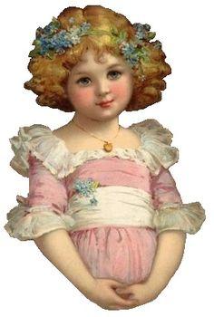 / little girls / victorian die cut / Vintage Diy, Vintage Labels, Vintage Ephemera, Vintage Cards, Vintage Postcards, Vintage Pictures, Vintage Images, Victorian Pictures, Victorian Christmas