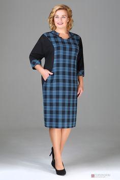 Повседневное платье AXXA 53984 Simple Dresses, Plus Size Dresses, Casual Dresses, Short Dresses, Dresses For Work, Curvy Girl Fashion, Plus Size Fashion, Womens Fashion, High Tea Dress