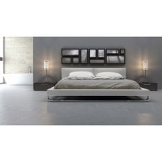 Found it at Wayfair - Chelsea Platform Customizable Bedroom Set - being considered. Love the bed but also love the design of the room Platform Bedroom, King Platform Bed, Upholstered Platform Bed, King Beds, Queen Beds, Contemporary Bedroom Sets, Contemporary Furniture, Cal King Bedding, Bedroom Furniture Sets
