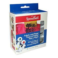 Six piece set of Speedball's new Fabric Block Printing inks!