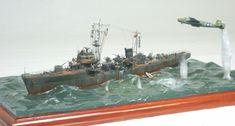 Japanese Navy Cormorant vs B25 Mitchell 1/350 Scale Model Diorama