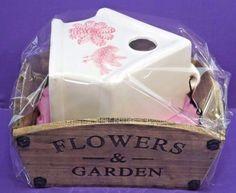 FLOWERS & GARDEN PLANTER AND A POTTERY  BIRD HOUSE  JOB LOT BUNDLE PRESENT GIFT  #FLOWERSGARDEN