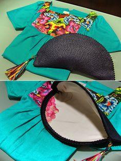 TallerdeLuna: Bolso abanico de rafia con borla para vestido de Hoss Intropia