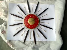 1960 Robert Shaw Lux Wall Clock Starburst Sunburst Atomic Clock Eames Mod   eBay