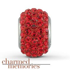 Charmed Memories Swarovski Elements Charm Sterling Silver Stock number: 811297908 Featuring genuine red SWAROVSKI ELEMENTS, this Charmed Memories® fashion jewelry charm is crafted of sterling silver. $54.99