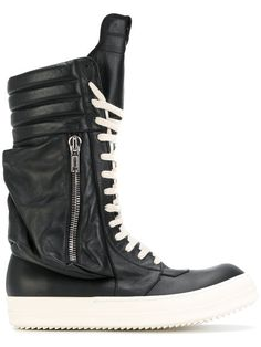 Rick Owens Black & Red Ed Western Boots sN2Z5i